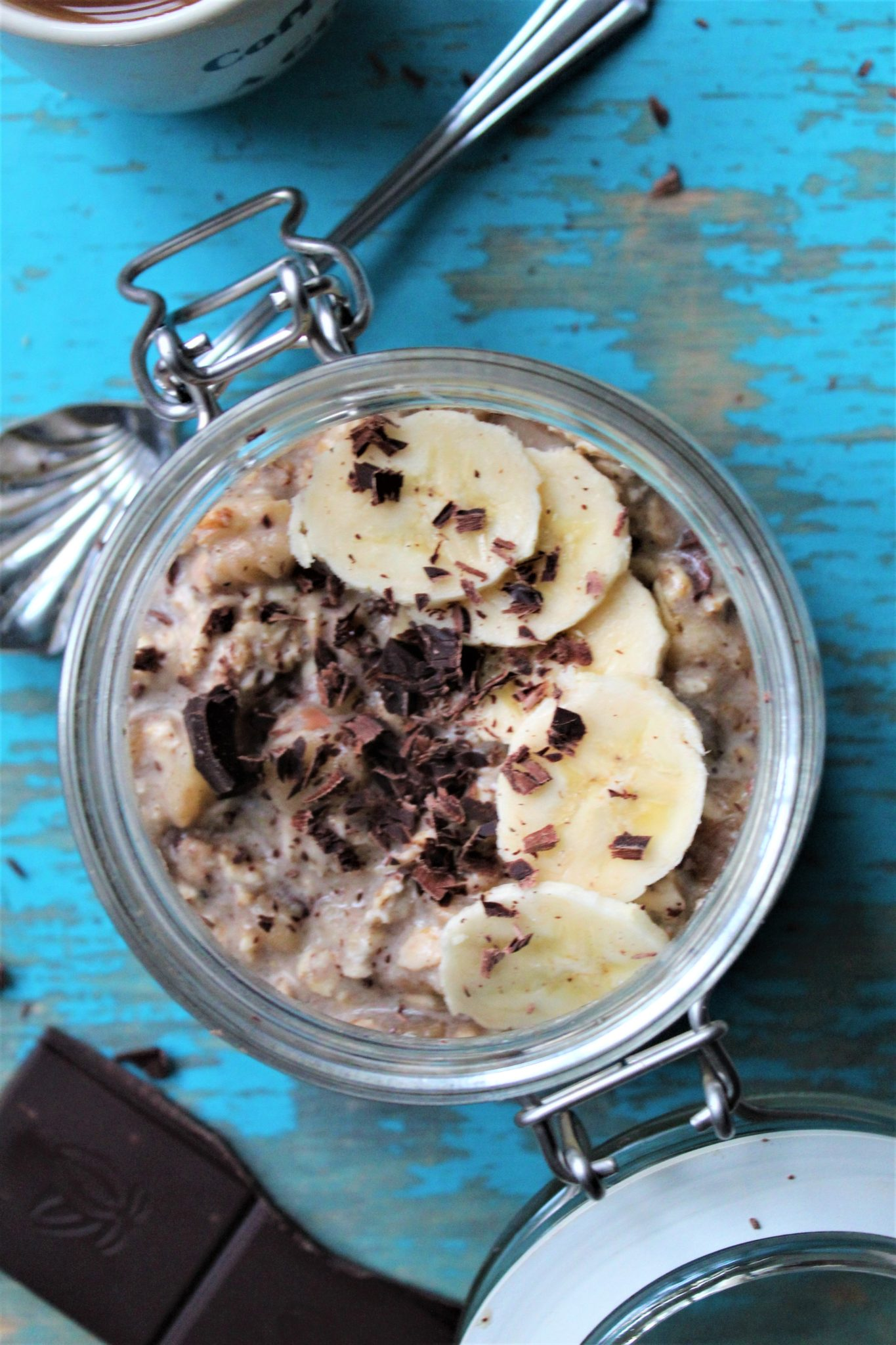 Banankage overnight oats