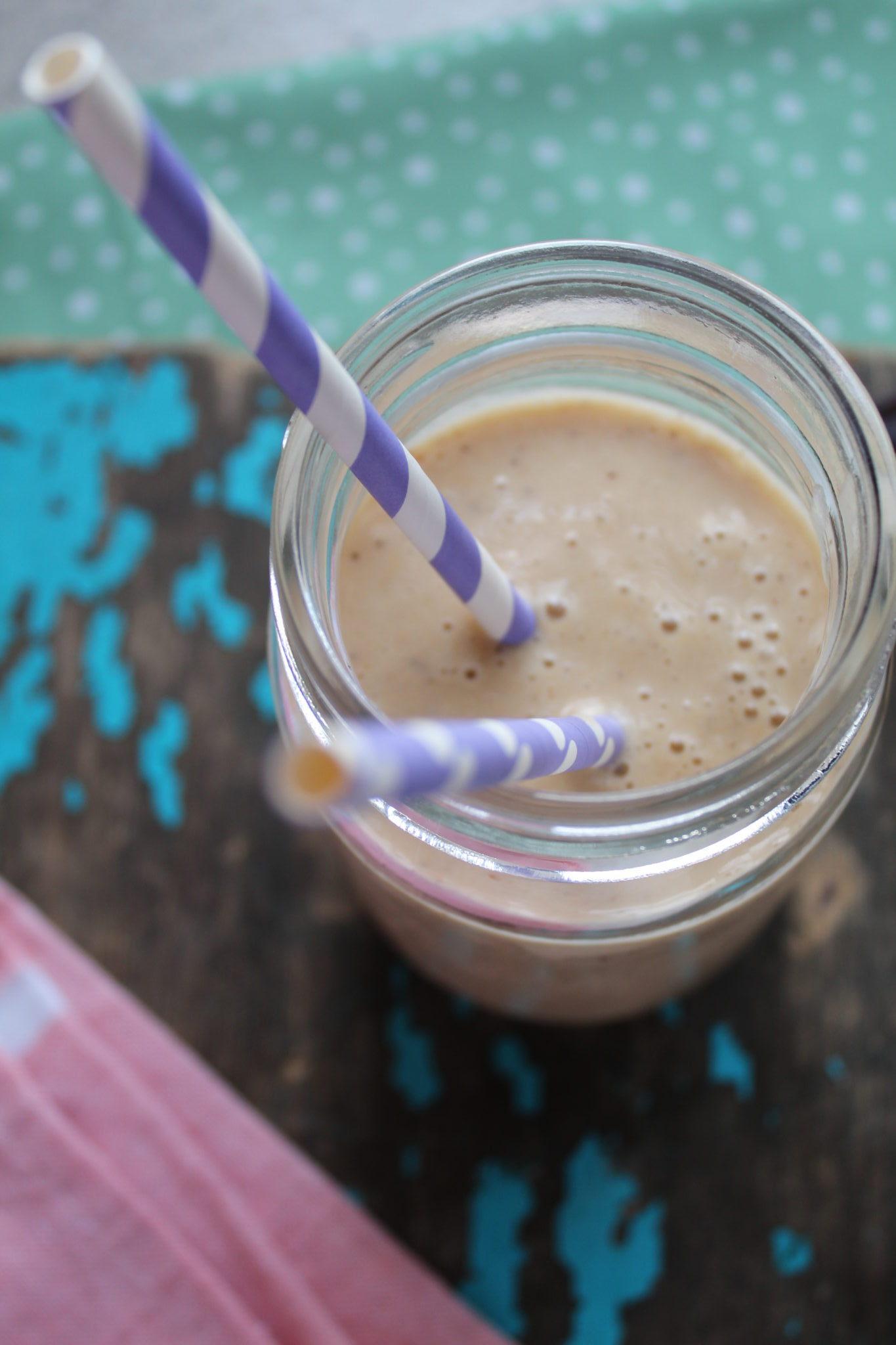 Vegansk peanut butter/banan smoothie