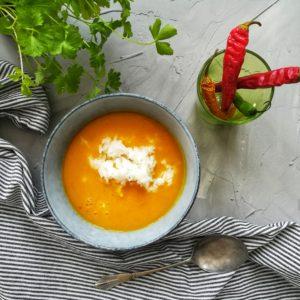 Vegansk grøntsagssuppe