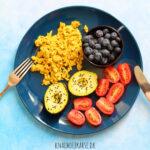 nem vegansk tofuscramble uden løg