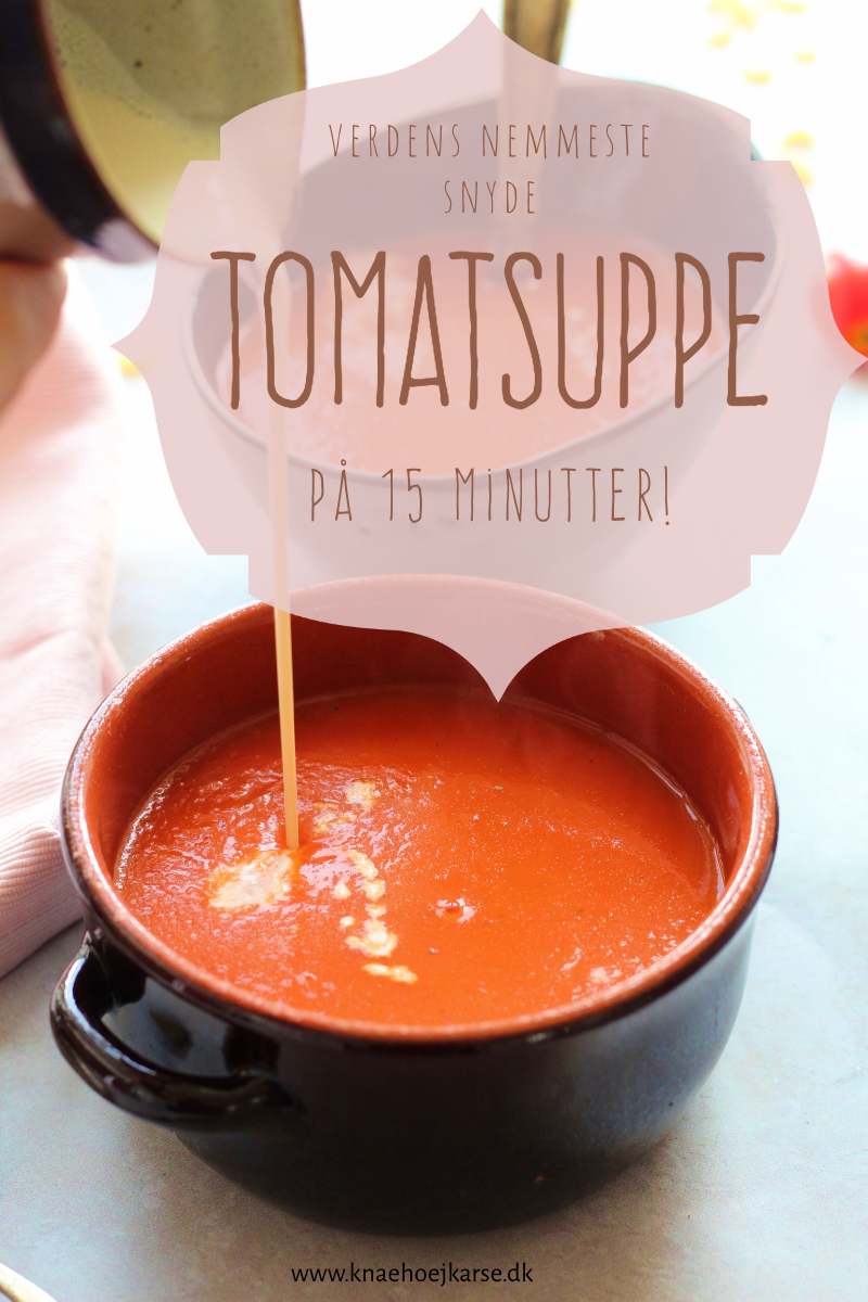 Lynhurtig, vegansk tomatsuppe