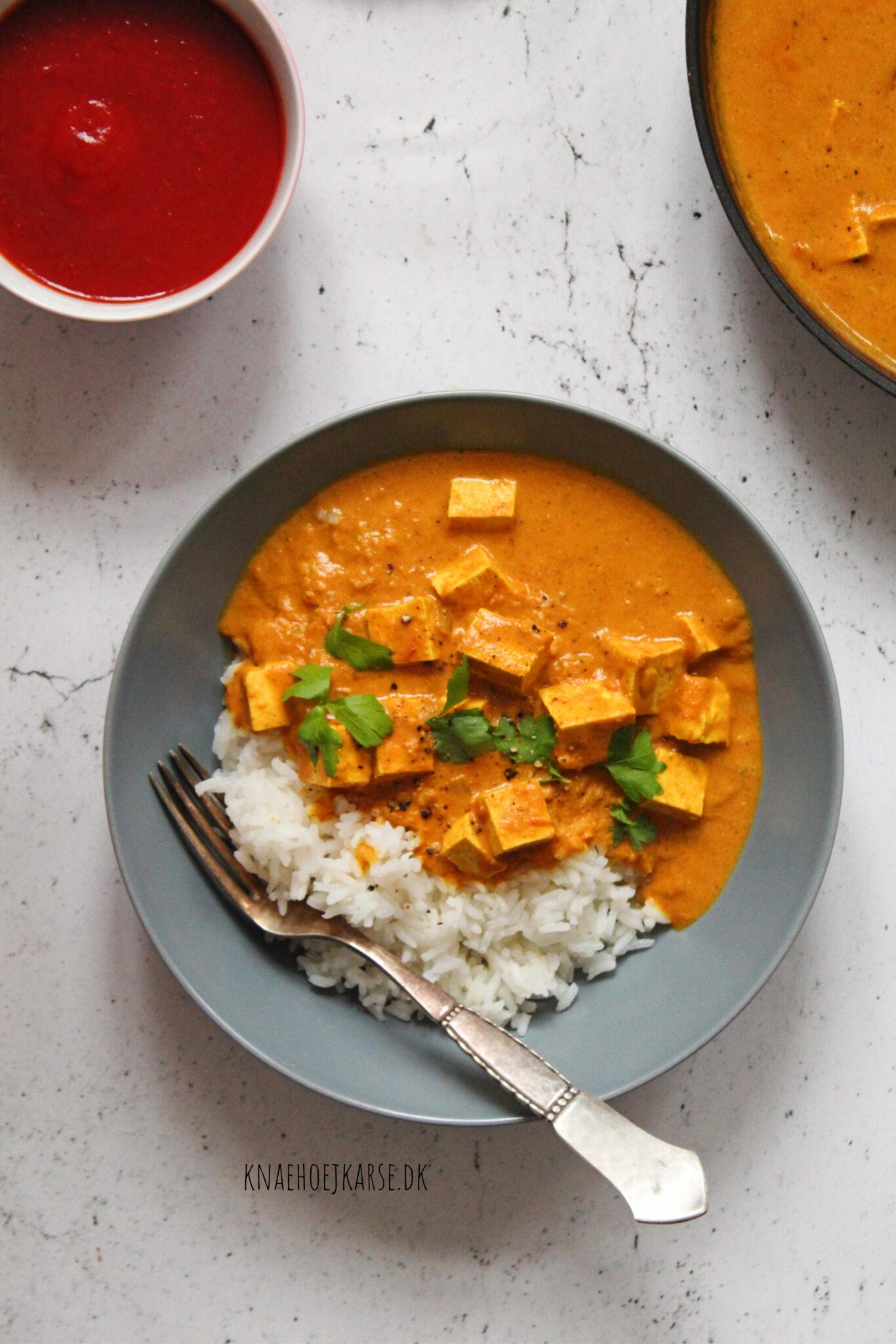 Sund og nærende vegansk tikka masala