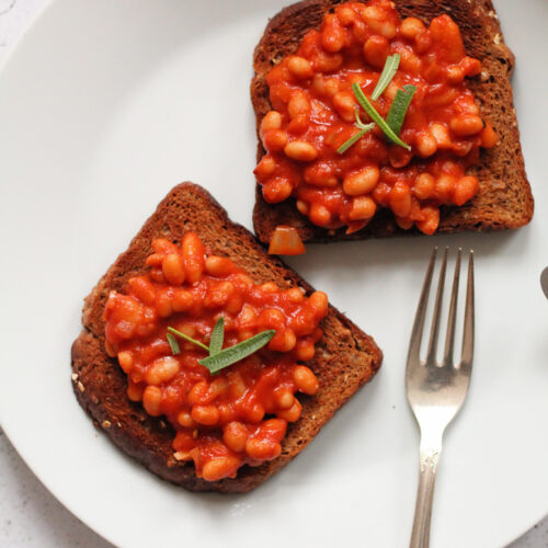 Nem vegansk opskrift på Baked Beans
