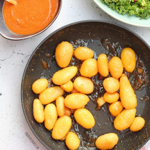veganske brunede kartofler