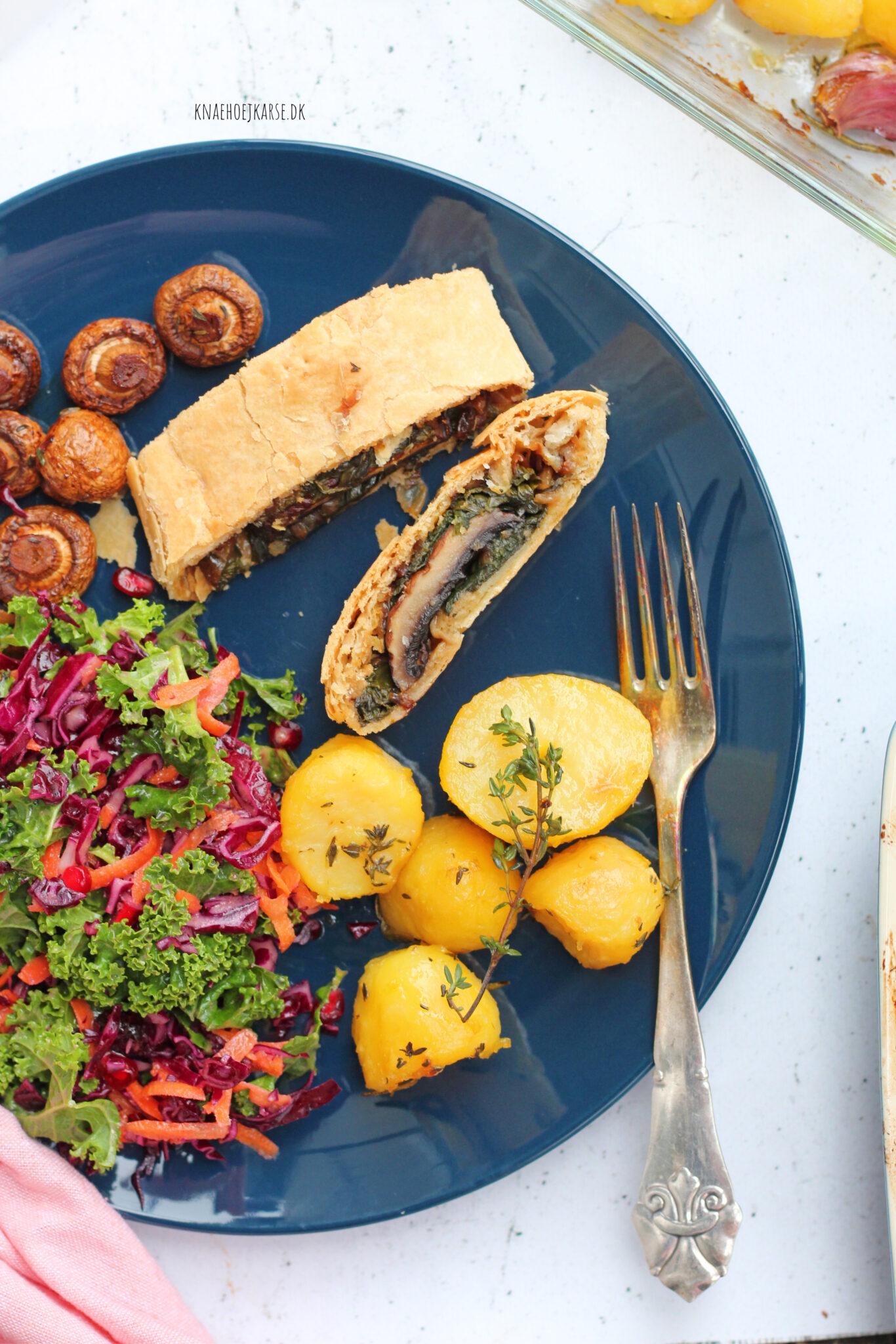 Vegansk portobello wellington - en oplagt vegansk hovedret til den veganske jul