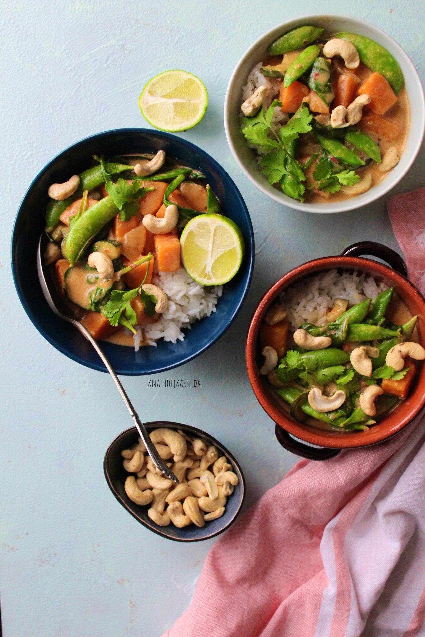 Vegansk rød thai curry