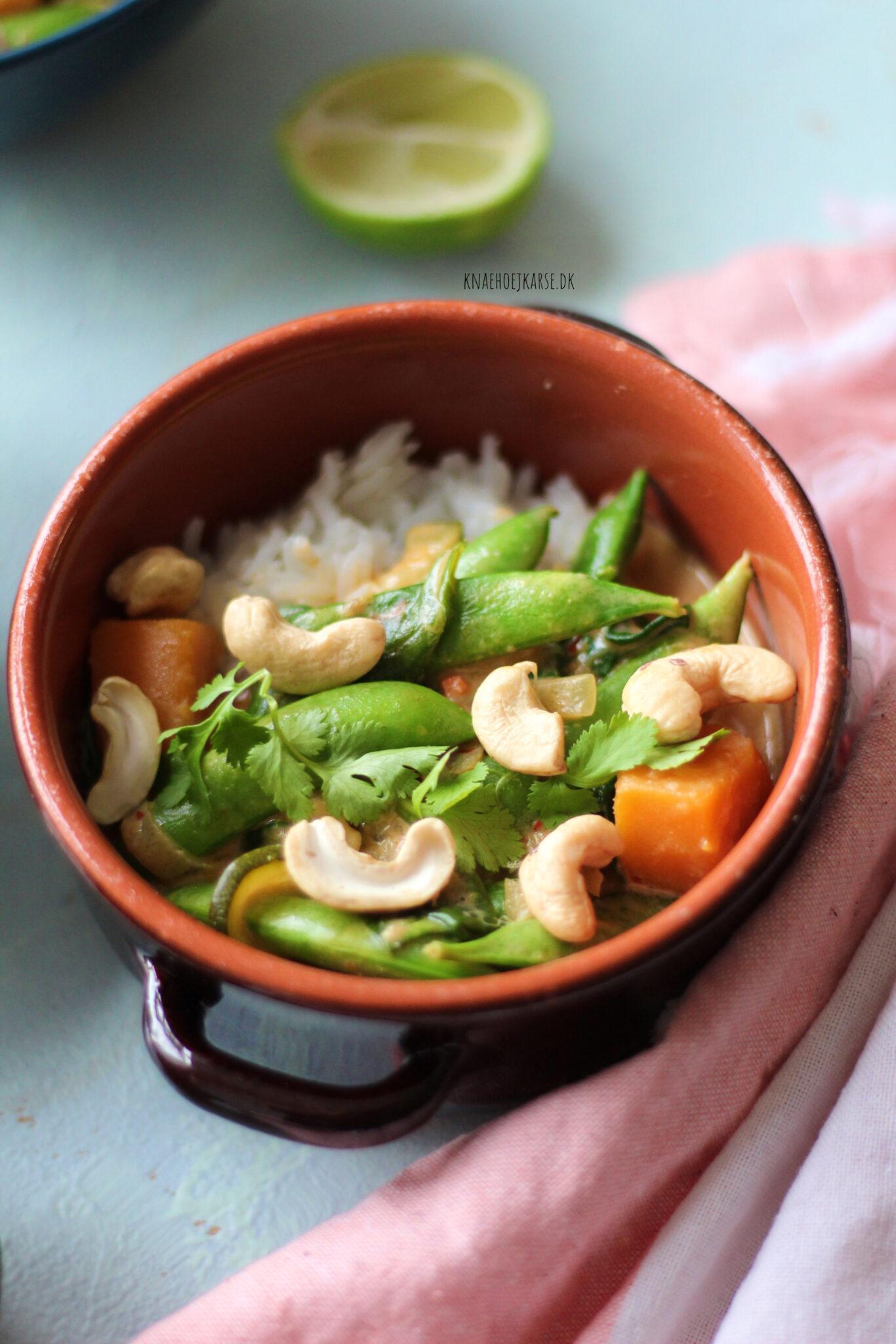 Græskar curry med rød karrypasta