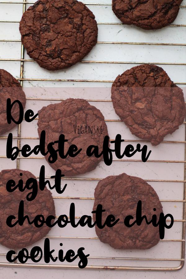 Veganske after eight cookies