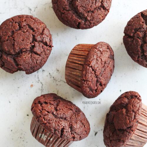veganske chokolademuffins