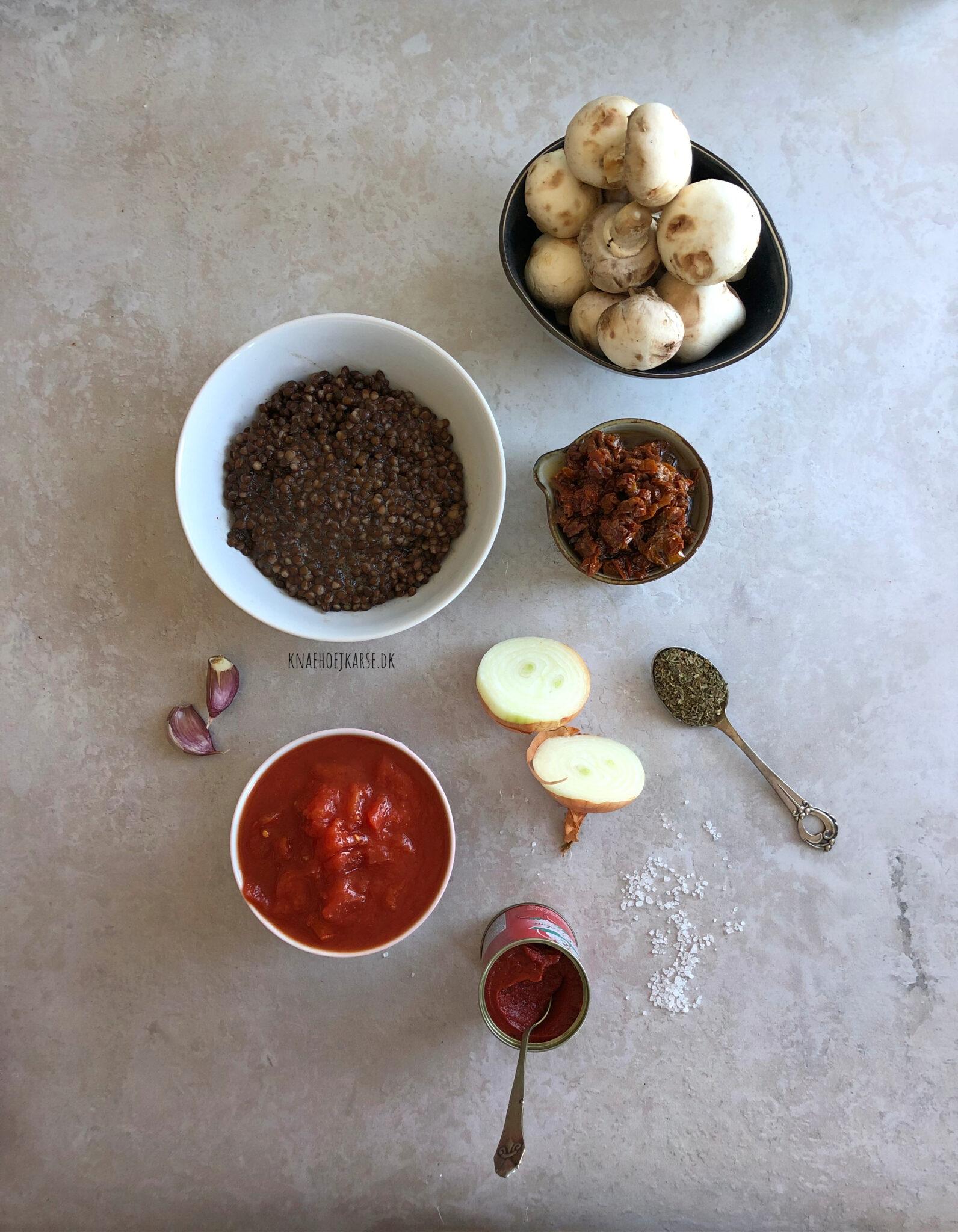 vegansk linsebolognese