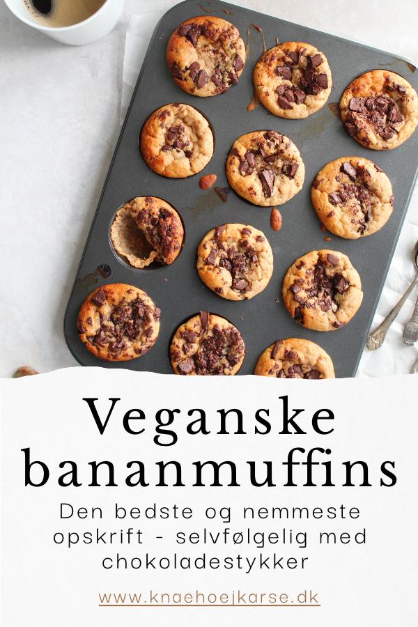 Veganske bananmuffins