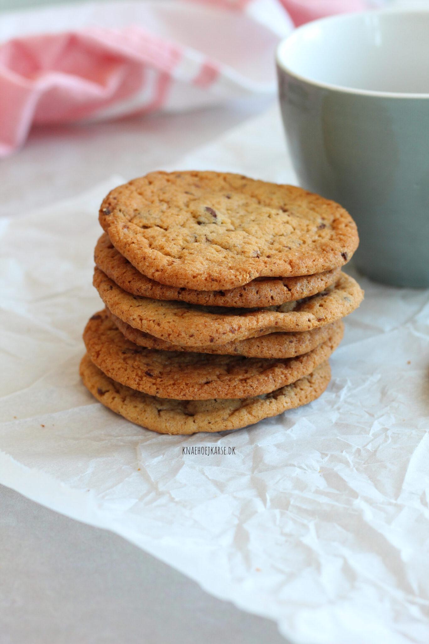 veganske cookies med chokolade