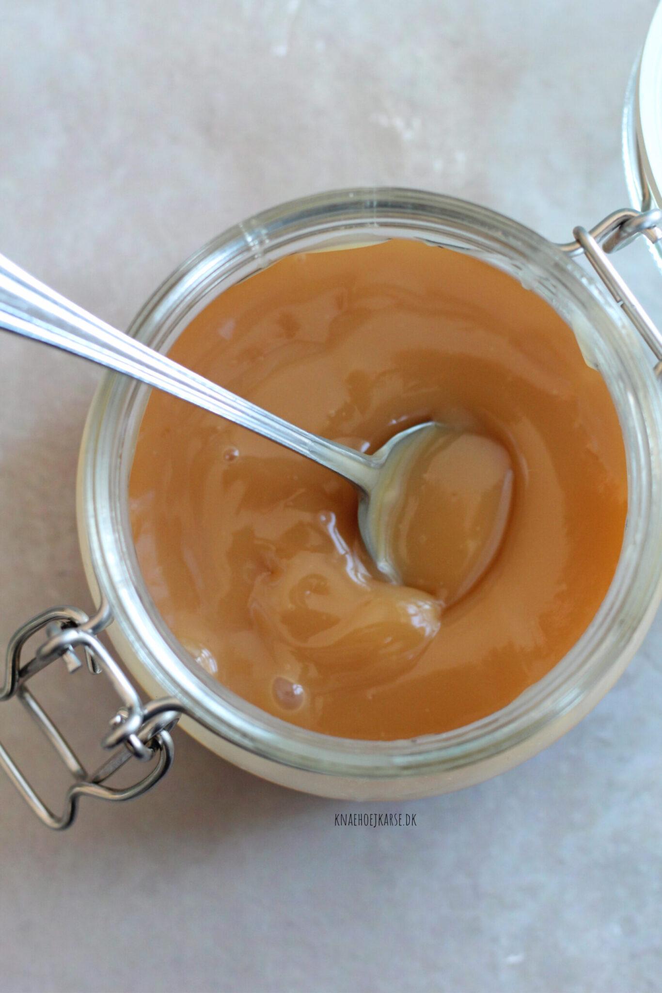 vegansk dulce de leche af kondenseret kokosmælk