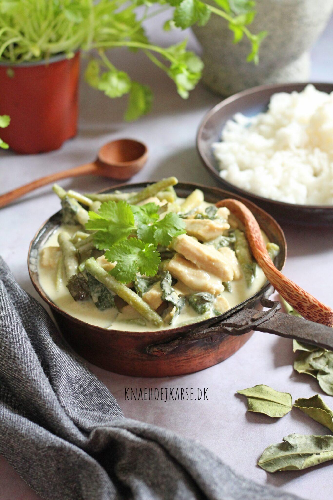 vegansk green thai curry
