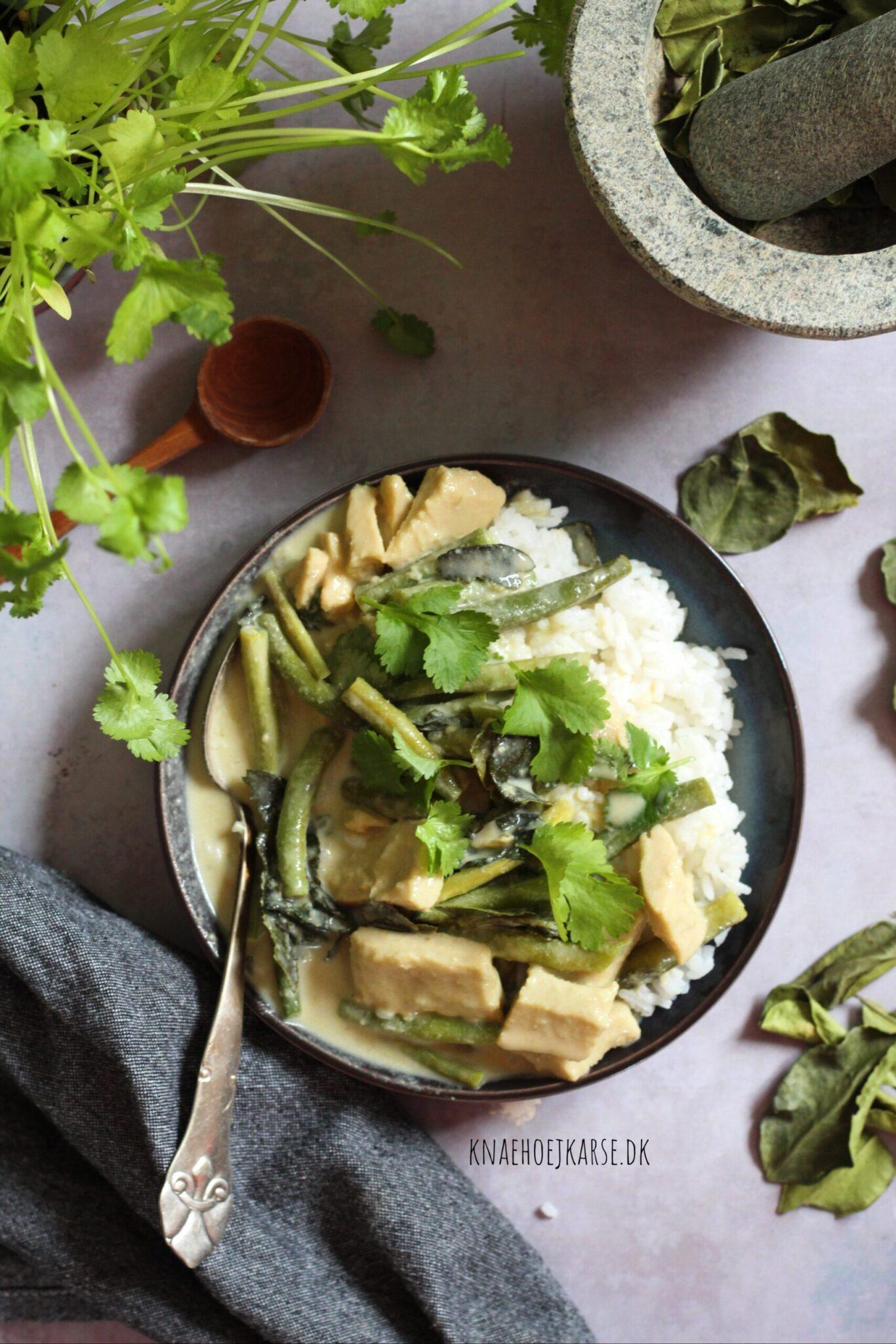 vegansk grøn thaicurry